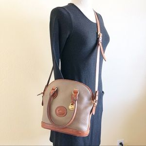 Vintage Dooney & Bourke Taupe Satchel/Crossbody